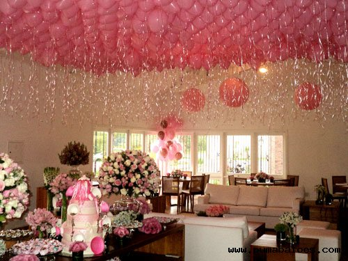 Como colar balões no teto u2013 passo a passo u2013 Inspire sua Festa # Como Decorar Um Teto Com Tnt