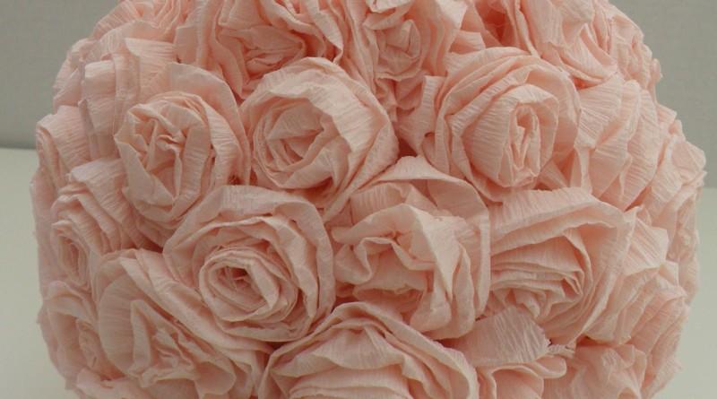 com fazer rosas de papel crepom
