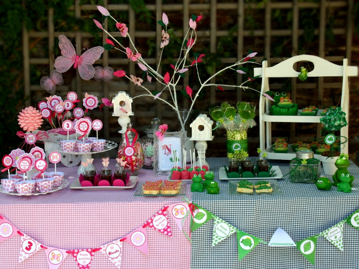 garden frog butterfly birthday party02