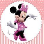 Minnie Rosa – Kit festa infantil grátis para imprimir