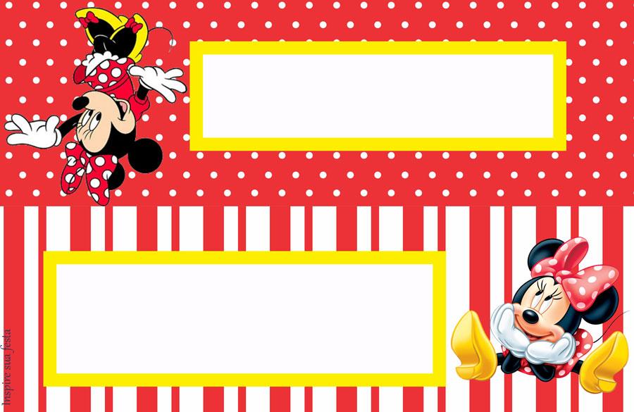 Minnie Vermelha – Kit festa infantil grátis para imprimir