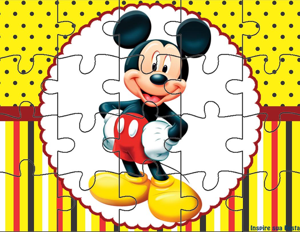 Mickey Mouse Kit Festa Infantil Grátis Para Imprimir