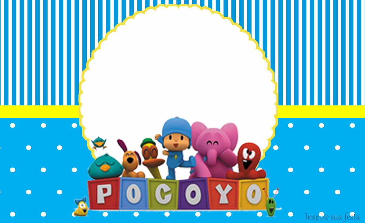 Pocoyo Kit festa infantil grátis para imprimir