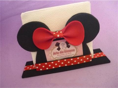 Como fazer Porta guardanapo da Minnie – Passo a Passo