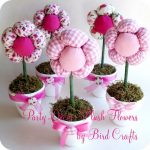 Como fazer Vaso com flores de tecido – Passo a passo