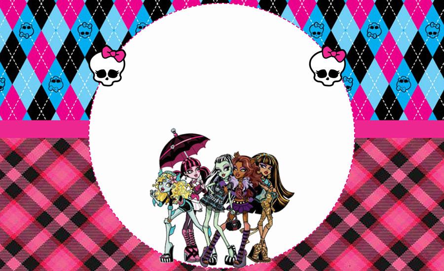 Monster High Kit festa grátis para imprimir