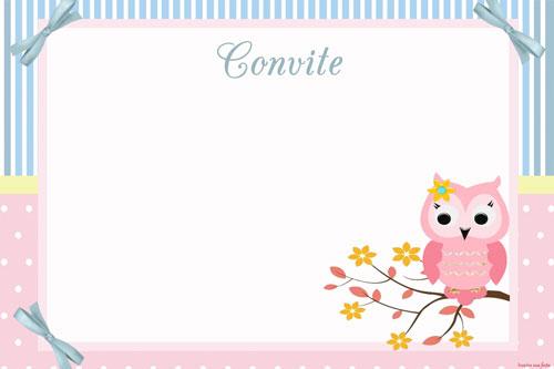 Corujinha rosa e azul kit festa gr tis para imprimir for Jardin vertical de fieltro en formato kit