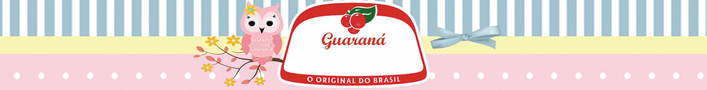 Rótulo guaraná antarctica Corujinha Rosa