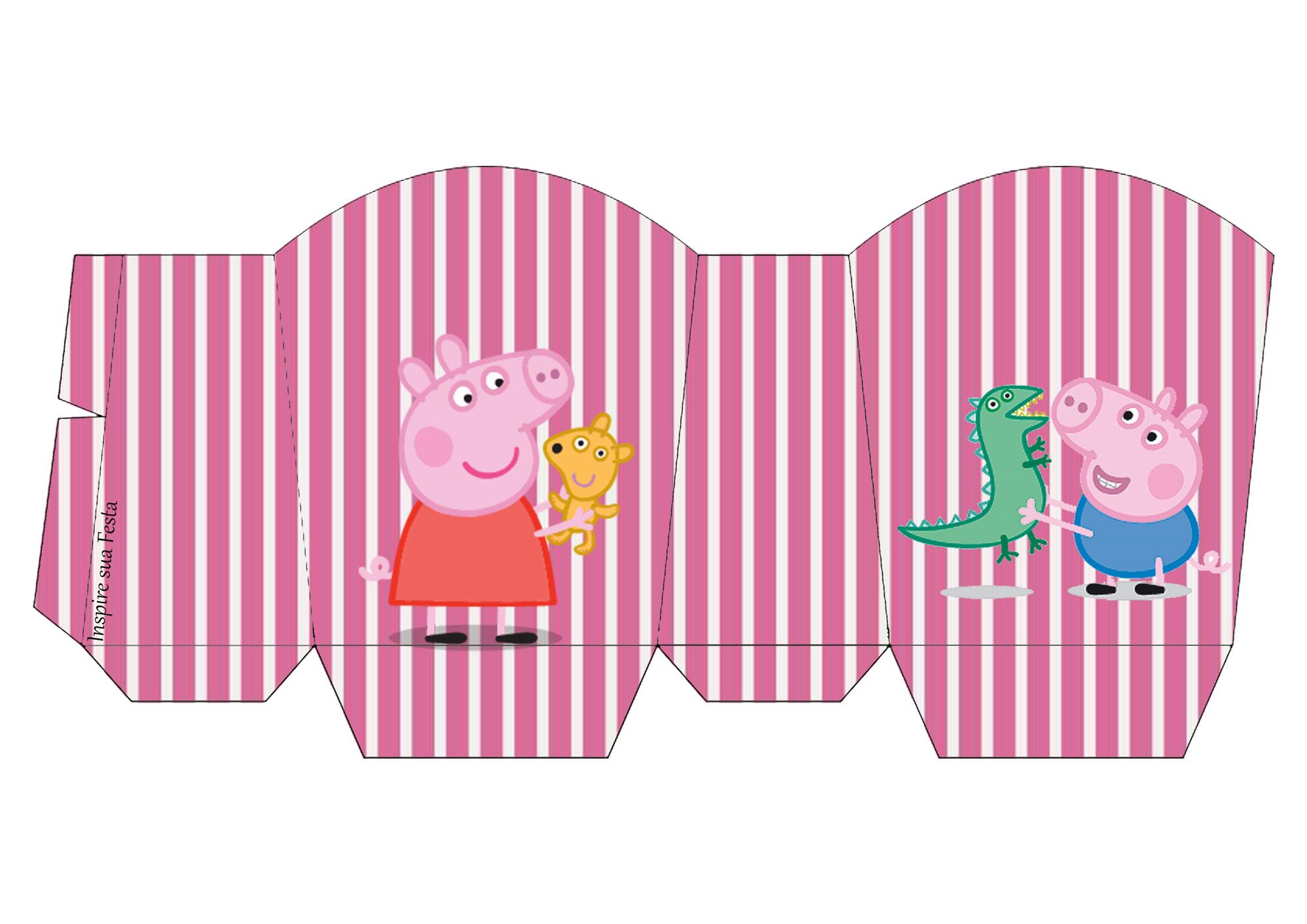 Caixa para guloseimas Rótulo água Peppa Pig