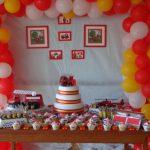 Decoração de festa infantil Bombeiro – Miguel 4 anos