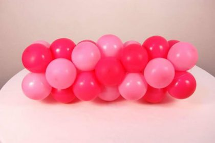 Como fazer Guilarnda de balões espiral 2 cores