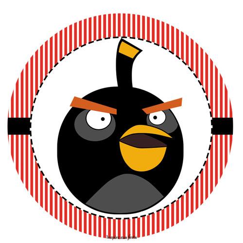 Tag ou toppers para docinho cupcake Angry Birds