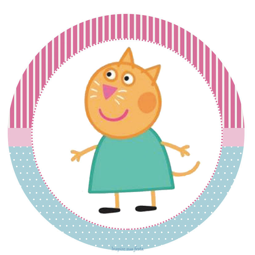 Tag ou toppers  para docinhos ou cupcake Peppa Pig