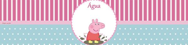 Rótulo água Peppa Pig
