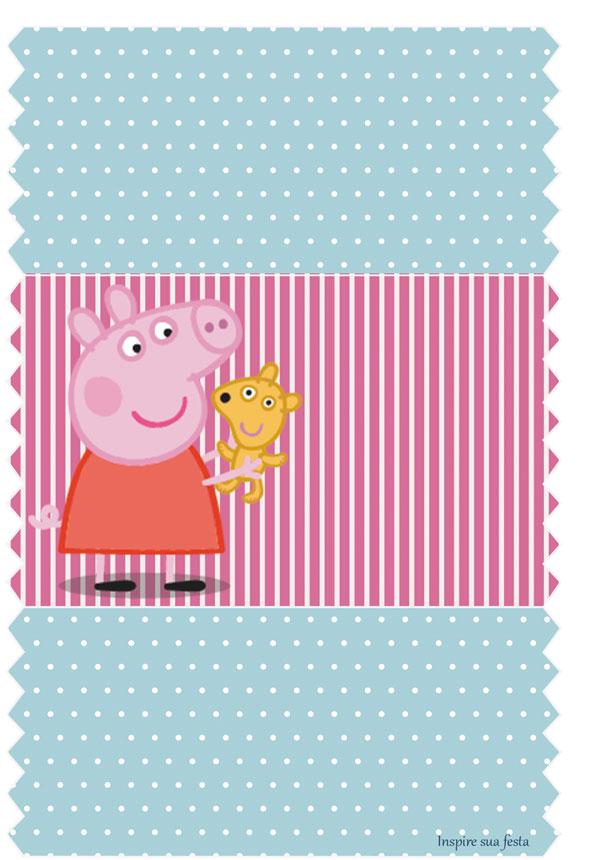 Rótulo bala personalizada Peppa Pig