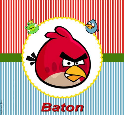 Rótulo Baton Angry Birds