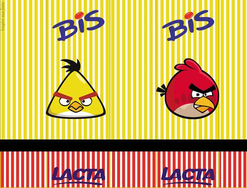 Rótulo Bis Angry Birds