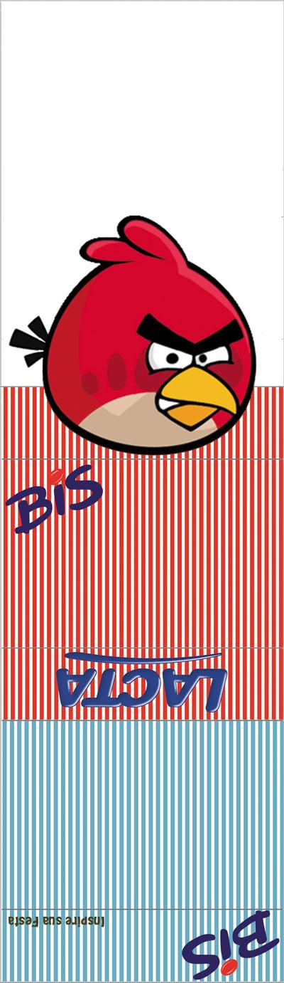 Bis duplo com display Angry Birds