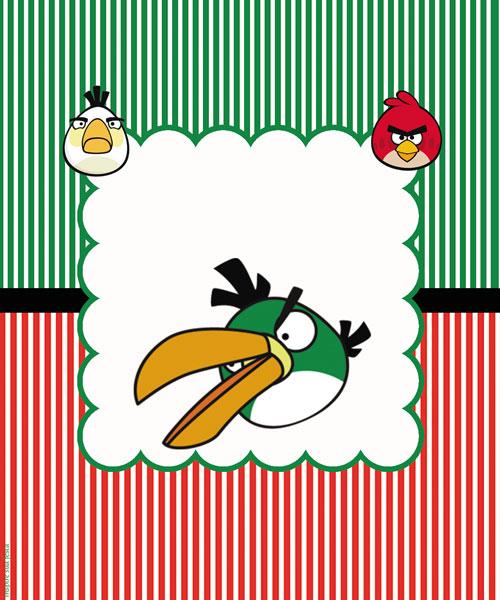 Rótulo Bisnaga de Brigadeiro Angry Birds