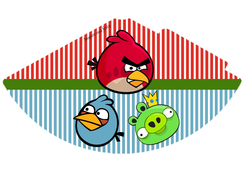 Chapéu de aniversário Angry Birds
