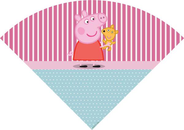Cone de Guloseimas Peppa Pig