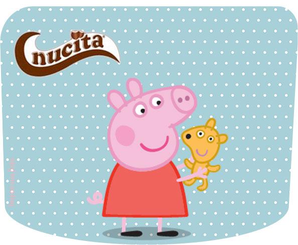 Rótulo creme nucita Peppa Pig