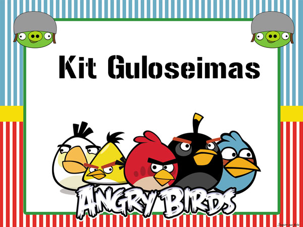 Kit festa grátis para imprimir Angry Birds