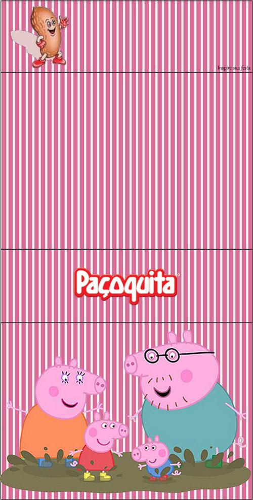 Rótulo Paçoquita Peppa Pig