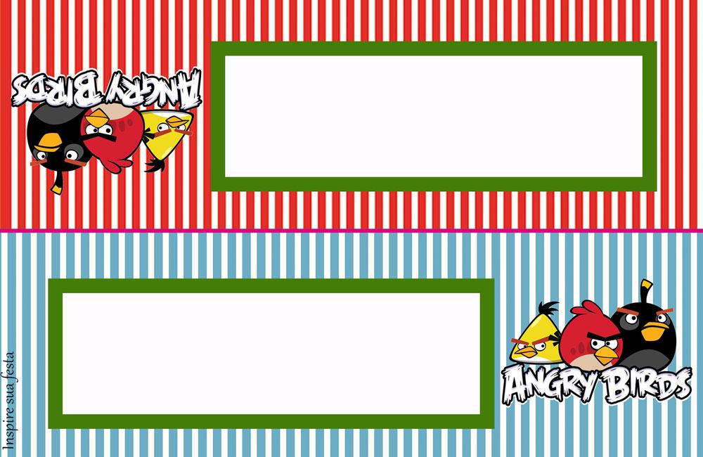 Placa para mesa Angry Birds