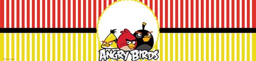 Rótulo Água Angry Birds