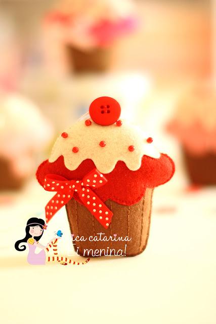 Como fazer cupcakes de feltro – Molde e Passo a passo