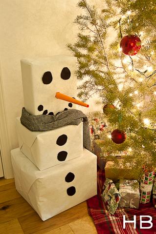 boneco de neve passo a passo
