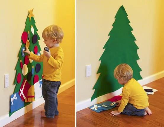 Como fazer uma Árvore de Natal de parede em feltro