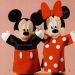 Como fazer Fantoches do Mickey e da Minnie – Molde