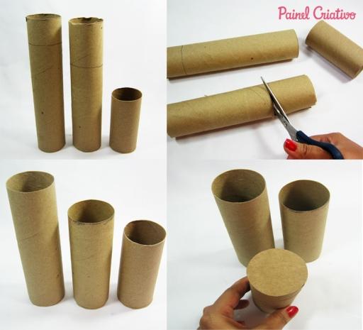 porta lapis com tubos de papelao 2