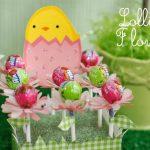 Como fazer Florzinhas feitas com papel e pirulitos – PAP