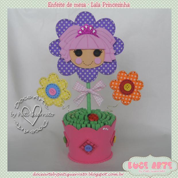 7. enfeite de mesa lala princesinha