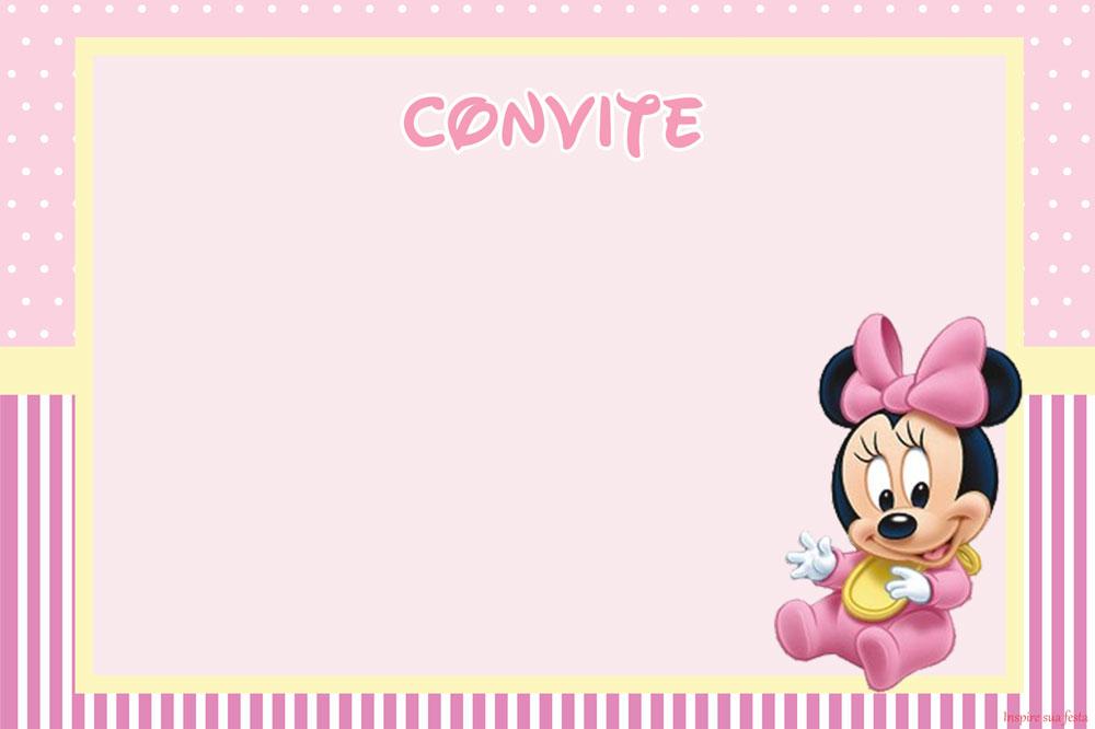 Moldes de tarjeta de invitacion para imprimir de baby minnie news of