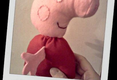 Como fazer Peppa Pig em feltro – Passo a passo