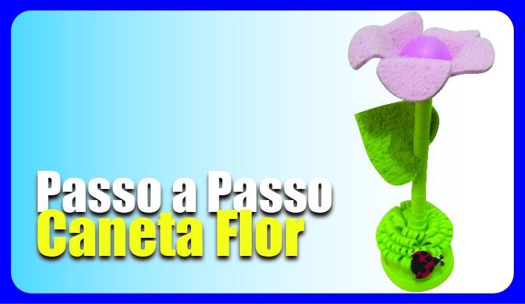 Como fazer Caneta Flor para lembrancinha em EVA