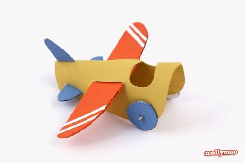 aviao feito com rolo de papel higienico 2