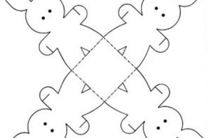Como fazer Coelhinho da Páscoa – Molde