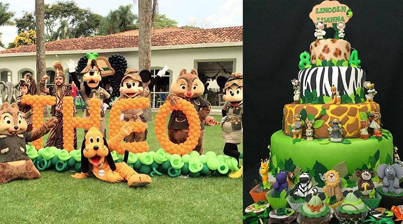 Festa Infantil Safari do Mickey – Dicas de decoração, bolos e lembrancinhas