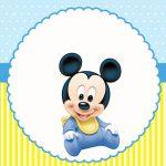 Mickey Baby – Kit festa infantil grátis para imprimir