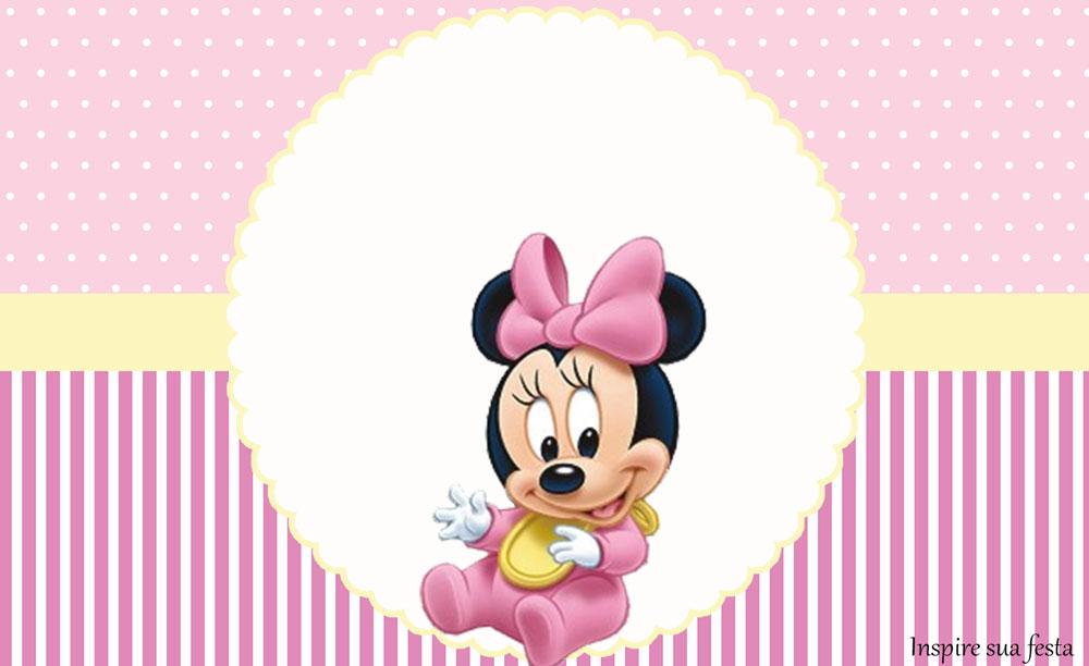 Minnie Baby – Kit festa infantil grátis para imprimir