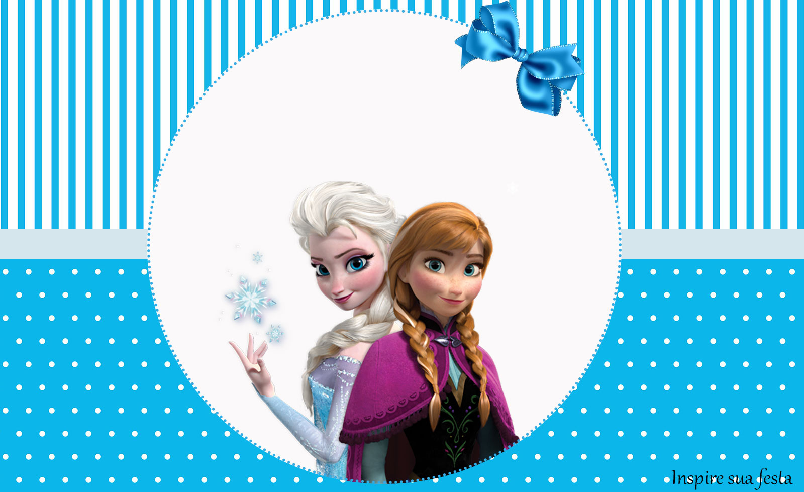 Frozen – Kit festa infantil grátis para imprimir