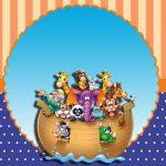 Arca de Noé – Kit festa infantil grátis para imprimir