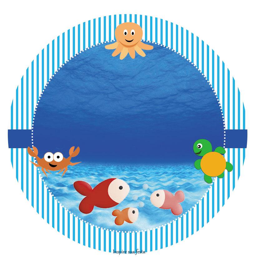 Fundo Do Mar Kit Festa Infantil Gr 225 Tis Para Imprimir