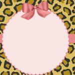 Oncinha com rosa – Kit festa infantil para imprimir