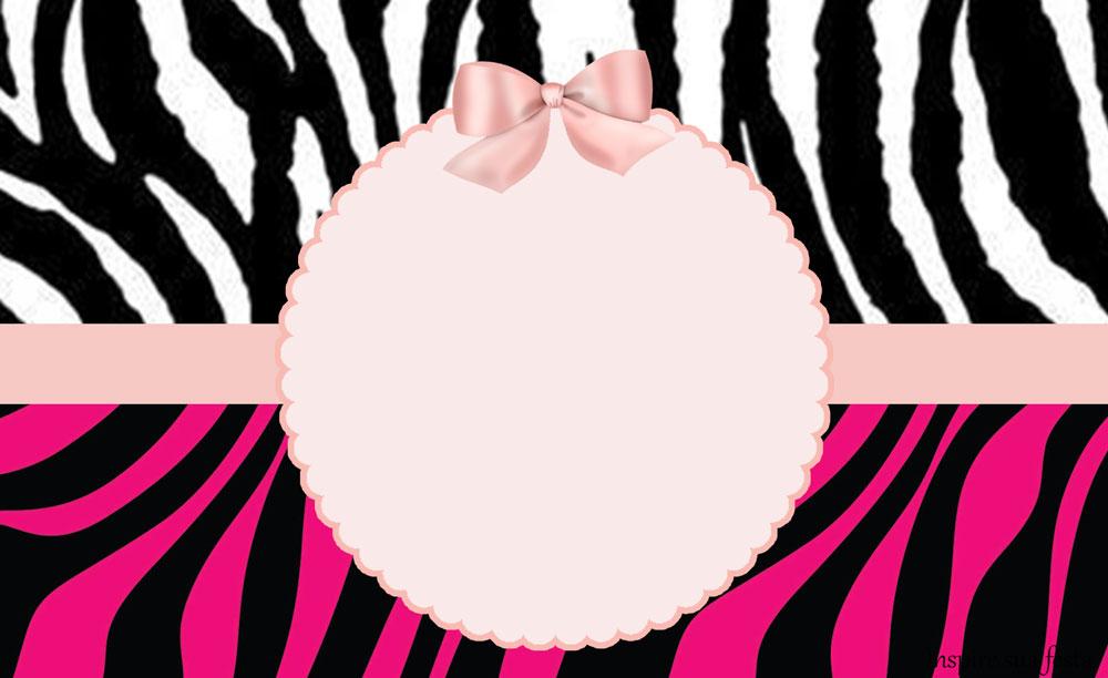 Artesanato Ideias De Natal ~ Zebra com rosa u2013 Kit festa grátis para imprimir u2013 Inspire